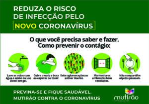 Mutirão decide suspender aulas presenciais em combate ao Coronavírus