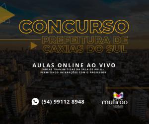Prefeitura de Caxias do Sul abre INCRIÇÕES para NOVO CONCURSO